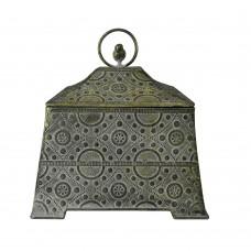 Caixa em Metal Decorativa Vivere 26x25cm Decoração