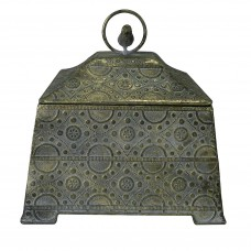 Caixa em Metal Decorativa Vivere 27x27cm Decoração