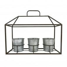 Porta Vasos House de Pendurar 40x35cm Decoração