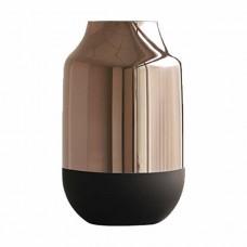 Vaso de Vidro Cobre e Preto 14,5x25cm