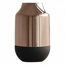 Vaso de Vidro Cobre e Preto 18x29,50cm