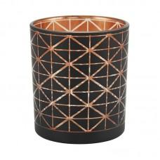 Castiçal de Vidro Home&Co Tealight Preto 8cm Decoração