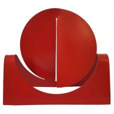 Escultura em Aço Carbono Vermelha - 30x30cm Decoração