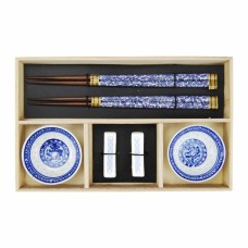 Kit de Comida Japonesa p/ 2 pessoas Azul Mesa