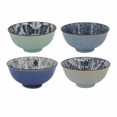 Conjunto Bowls de Porcelana Colorido 4 Pçs Mesa
