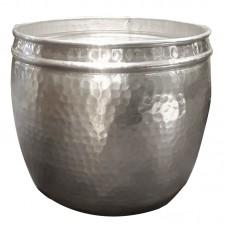 Cachepot de Alumínio 25cm Decoração