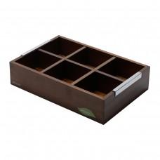 Caixa de madeira para chá com 6 divisórias Naturals Mesa