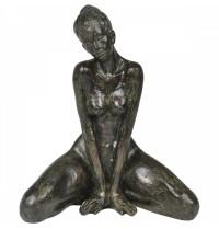 Mulher Decorativa de Resina 17x19cm