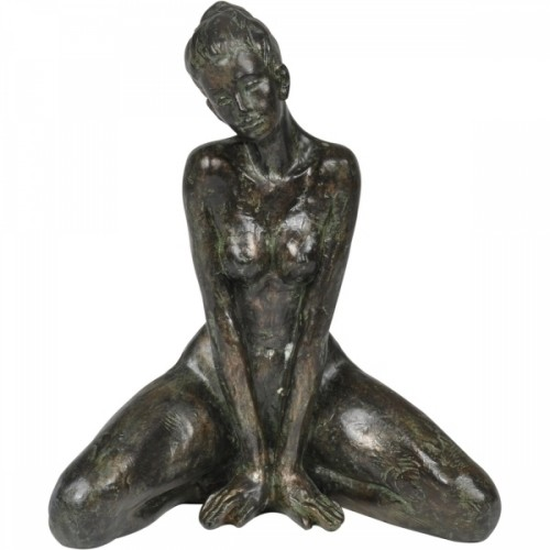 Mulher Decorativa de Resina 17x19cm Decoração