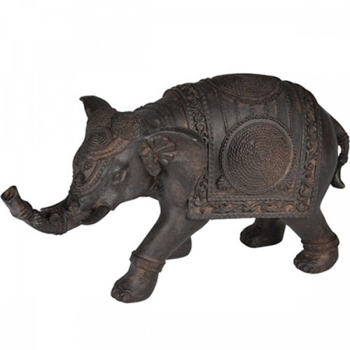 Elefante em Resina Decorativo 25x14cm Decoração
