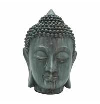 Cabeça de Buddha em resina 11,5cm x 10,5cm x 18cm