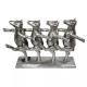 Escultura Vacas Dançarinas Silver 44x35cm