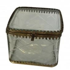 Caixa de vidro Tinny  10x10cm Decoração