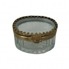 Caixa oval de vidro e metal Lilith 6.5x5cm Decoração