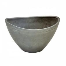 Cachepot Fiber Clay Cinza 22x31cm Vasos e Cachepot
