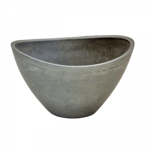 Cachepot Fiber Clay Cinza 22x31cm