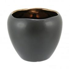 Vaso de Cerâmica Home&Co Edrus Preto 16x19cm Decoração
