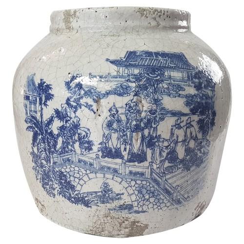 Vaso de Cerâmica St Tropez 25x22cm Decoração