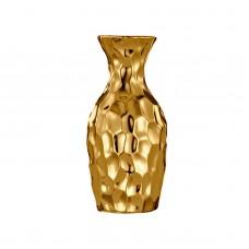 Vaso de Cerâmica Dourado 6x12cm Decoração