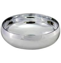 Vaso em vidro prata 29x11cm