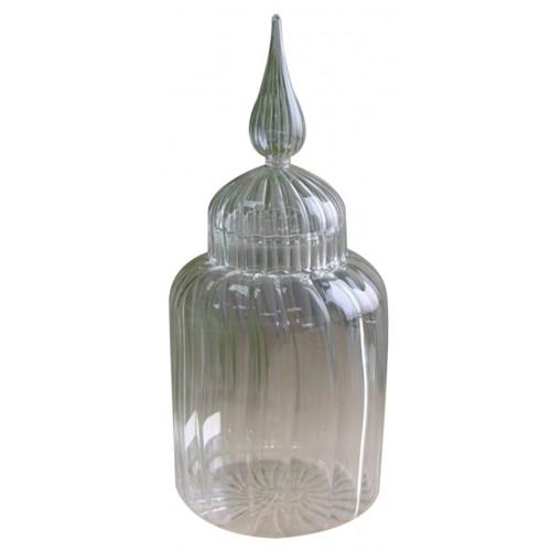 Pote de vidro M 9x25cm Decoração