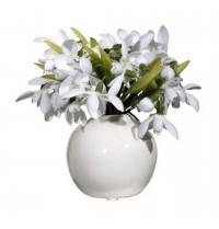 Vaso cerâmica com arranjo 20x14cm