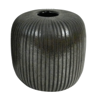 Vaso decorativo Mol I vidro vidro colorido cor marrom 14cmx14cmx14h