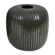 Vaso decorativo Mol II vidro vidro colorido cor marrom 17cmx17cmx19h