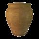 Vaso decorativo Rusty P em cimento  com acabamento na cor ferrugem 31x31x36h