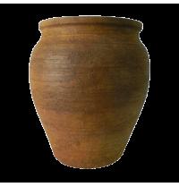 Vaso decorativo Rusty G em cimento  com acabamento na cor ferrugem 44x44x51h