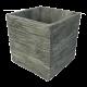 Vaso decorativo Oak Quadrado em cimento 15x15cm