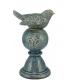 Peça decorativa Birds cerâmica azul 10x28cm